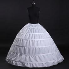 6 cerceaux blanc jupons agitation robe de bal robe de mariée sous jupe mariée Crinolines