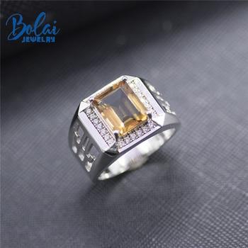 Bolai amazing color change zultanit ring 925 sterling silver fine gemstone nano diaspore jewelry for women men's wedding rings