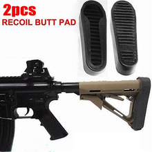 Hunting Accessories Stealth Slip on Rubber Combat Buttpad Anti-slip Buttpad For AR15/M4 Rifle Recoil Buttpad Butt Pad 2PCS цена в Москве и Питере