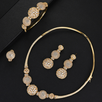 Luxury Ball Chain Nigerian Statement Jewelry set 1