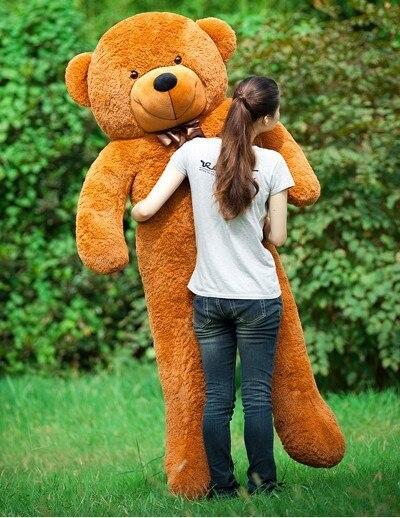 Frete Grátis 180 cm bichos de pelúcia brinquedos de pelúcia grande urso de peluche gigante marrom em tamanho natural bonecas miúdo meninas de brinquedo de presente 2018 New arrival