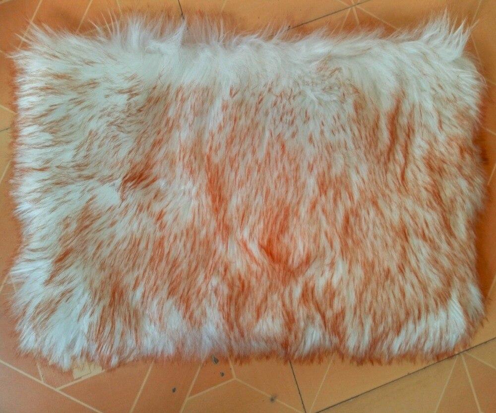 Real Faux Sheepskin Rug Bed Fur Blanket Floor Carpet Throw ...