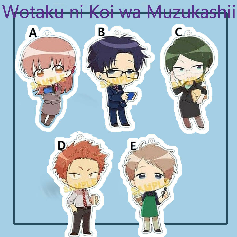 Wotaku Ni Koi Wa Muzukashii Acrylic Anime Keychain Keyring Strap
