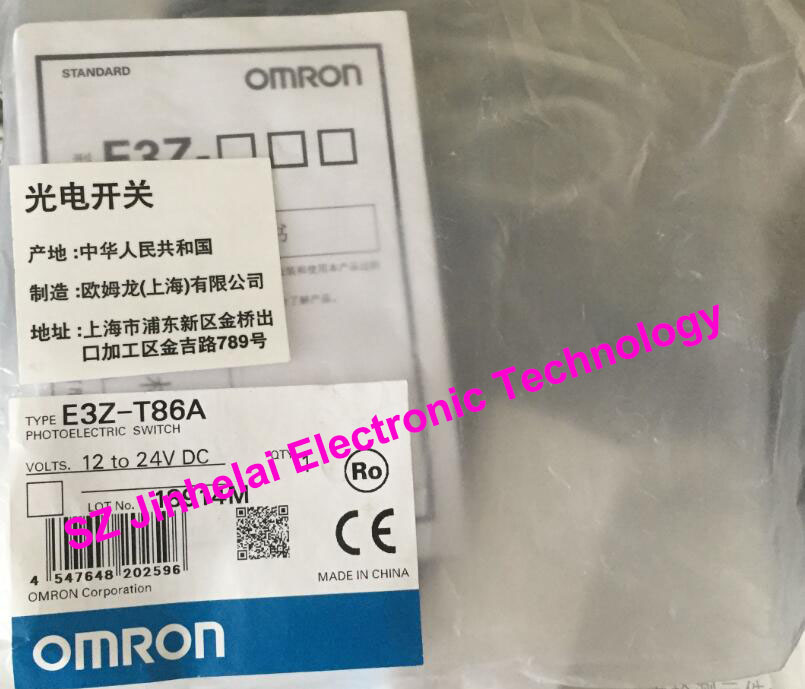 100%New original E3Z-T86A, E3Z-LL86  OMRON   Photoelectric switch  12-24VDC 100% new and original fotek photoelectric switch a3g 4mx mr 1 free power photo sensor