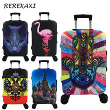 REREKAXI Travel Accessories For 18-32 Inch Suitcase Case Covers Protective Luggage Cover Trolley Baggage Elastic Dust Cover(China)