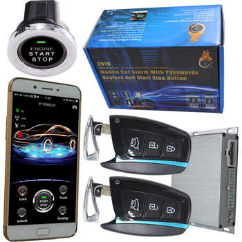 2019 year mobile phone security car alarm auto engine start stop wireless mobile app car central door lock discount price - DISCOUNT ITEM  10% OFF All Category