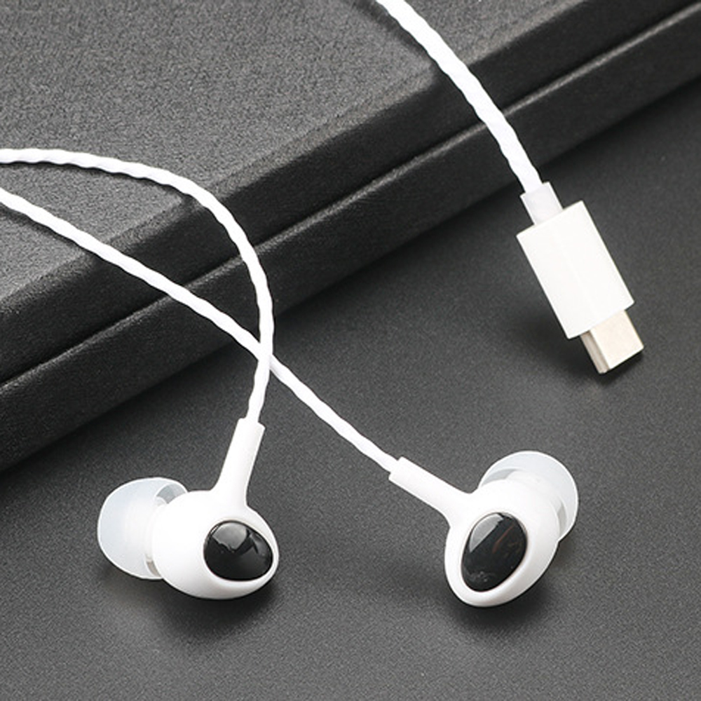 qijiagu Type c earphone M6 2pro 2max X620 earplug wire control band mic ear Type headsets in Phone Earphones Headphones from Consumer Electronics