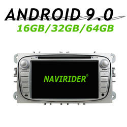 Высокая конфигурация Восьмиядерный Android 9,0 Автомобильный gps Мультимедиа для FORD Focus MondeoTourneo подключения bluetooth 64 Гб большой памяти