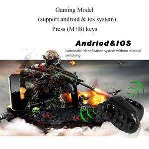 Image 2 - Controlador de juego inalámbrico con Bluetooth para dedo, adaptador de mango, ratón, selfie, función de páginas, compatible con sistema de Android iOS