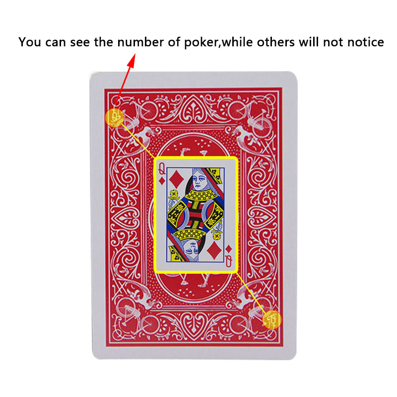 New Secret Marked Poker Cards See Through Playing Cards Magic Toys simple but unexpected Magic Tricks image