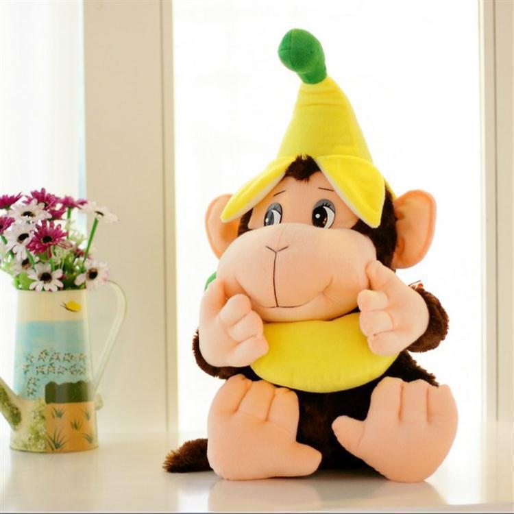 Nouvelle Peluche singe jouet belle banane singe poupée cadeau environ 60 cm 0051