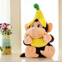 new Plush monkey toy lovely banana monkey doll gift about 60cm 0051