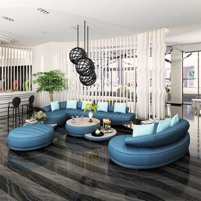 2 unids 3 asiento + salón de 1 Unidades moderna de cuero blanco sofá ...