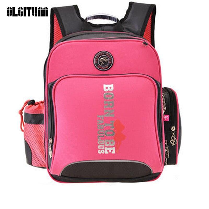 children backpack Barbie orthopedic ergonomic elementary books child portfolio for class grade1 4 for girls school