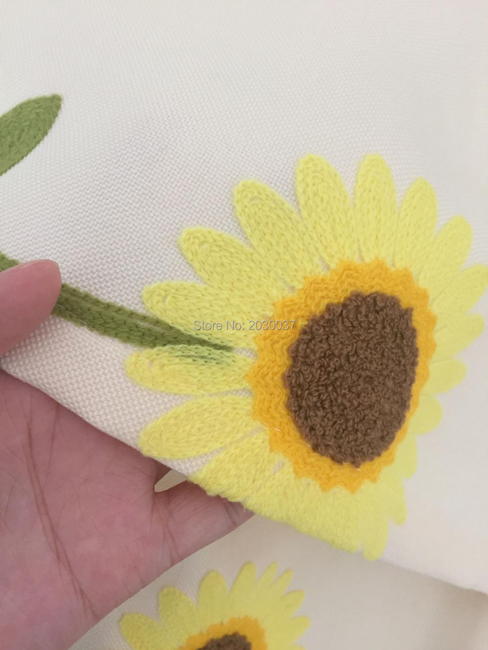 XYZLS Pastoralen Stil Sonnenblumen Tap Top Jalousien Halb Vorhänge ...
