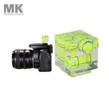 Triple 3 Achsen Blitzschuh Wasserwaage Blitzschuh Blase Gradienter für Canon Nikon kamera etc