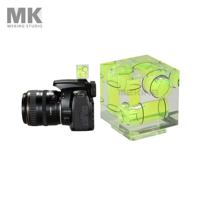 Triple 3 Axis Hot Shoe Waterpas Hotshoe Bubble Gradienter Voor Canon Nikon Camera Etc