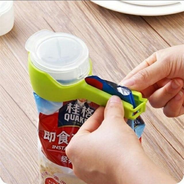 1pcs Househould Food Snack Storage Seal Sealing Pour Bag Clips Sealer Clamp Clip Kitchen