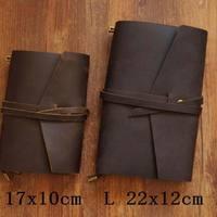 Vintage Traveler S Notebook Cowhide Diary Handmade Journal 100 Genuine Leather Spiral Looes Leaf DIY