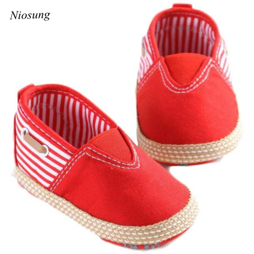Niosung New Cute Solid Infant Baby Anti-slip New Born Baby Shoes Boys Casual Shoes first Walkers Baby Boy shoes 2 Colors v