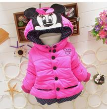 New Winter children Jackets & Coats Girls Graffiti Parkas Hooded Baby Girl jacket Warm Outerwear Cartoon Animal Children coat