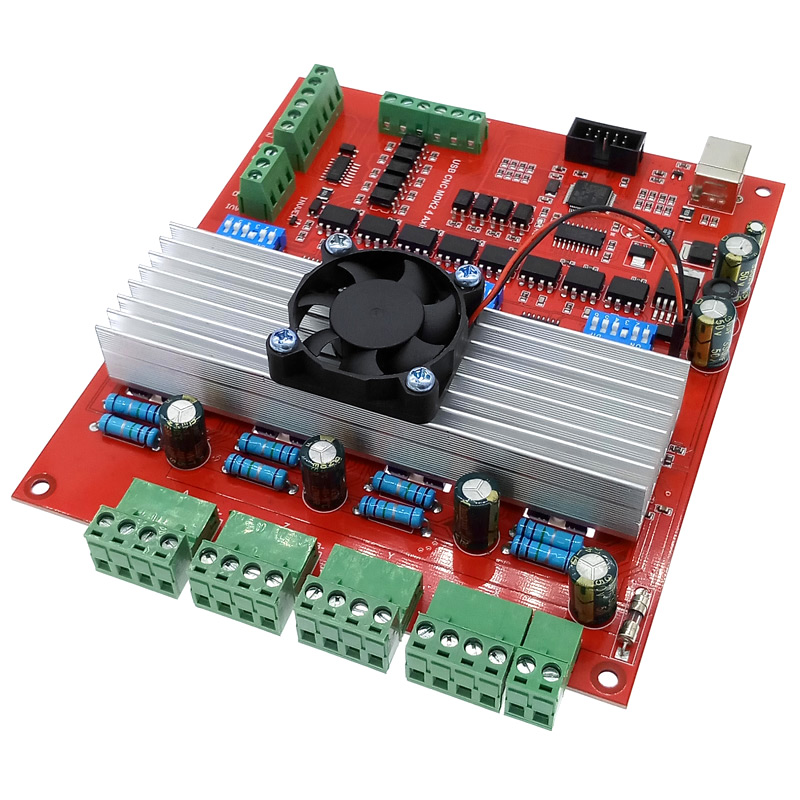 Breakout board MACH3 CNC USB 100Khz 4 axis interface driver motion controller driver board with fan image