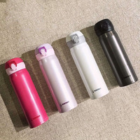 Cup Bear Solid Color Adult Mugs Boys and Girls Children Stainless Steel Cups Creative Portable Water Bottle 020 Y