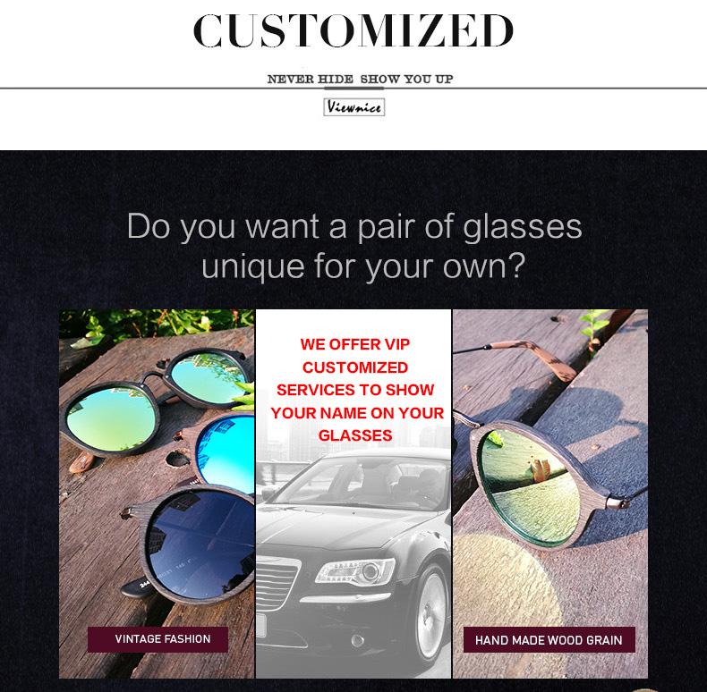 VIEWNICE Fashion Eyewear wooden 25