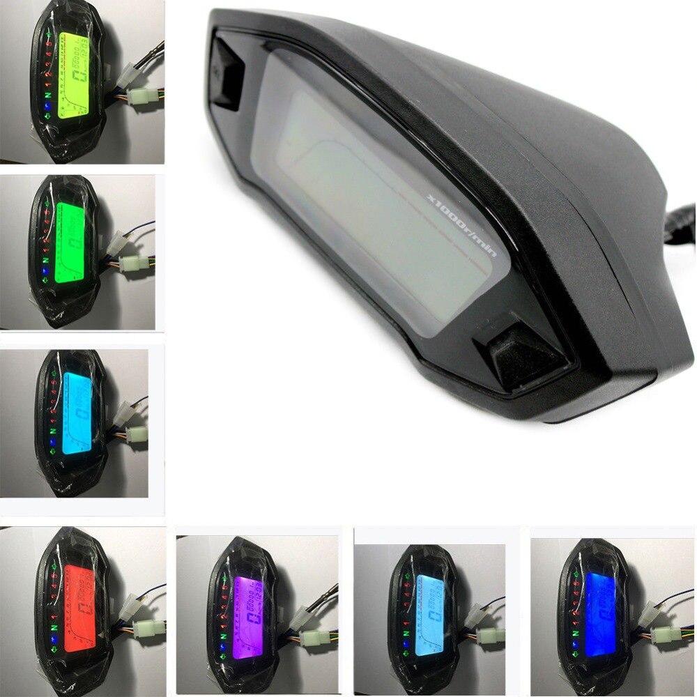 7 Color Universal Motorcycle Lcd Digital Speedometer
