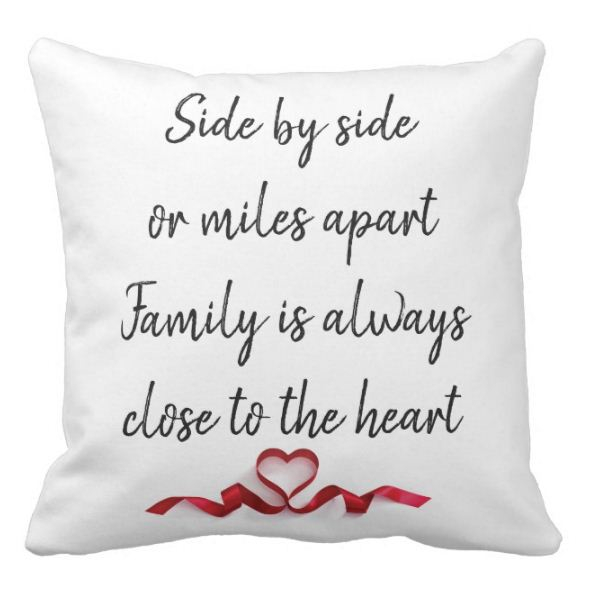 Chic Family Gift Side By Side Or Miles Apart Family Close