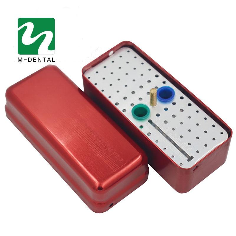 1 PC 72 Hole Aluminium Autoclave Sterilizer Case Bur Dental Disinfection Endo Files Holder Box For Oral Care Tool