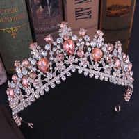 Rosa Corona di cerimonia nuziale del diadema della fascia di strass Da Sposa Accessori Per Capelli vintage corone sposa diadema rievocazioni storiche testa monili dei capelli