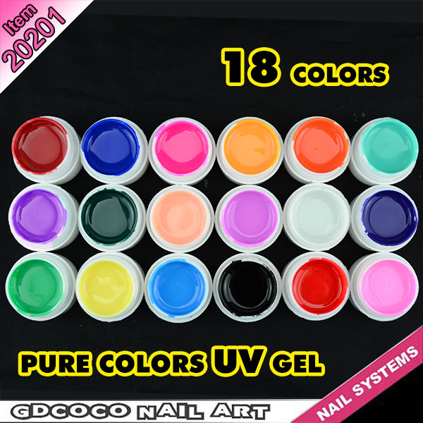 #20201 CANNI 18 color pure color uv gel kit, uv color paint gel kit,uv color gel kit
