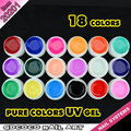 #20201 free shipping CANNI  18 color pure color uv gel kit, uv color paint gel kit,uv color gel kit