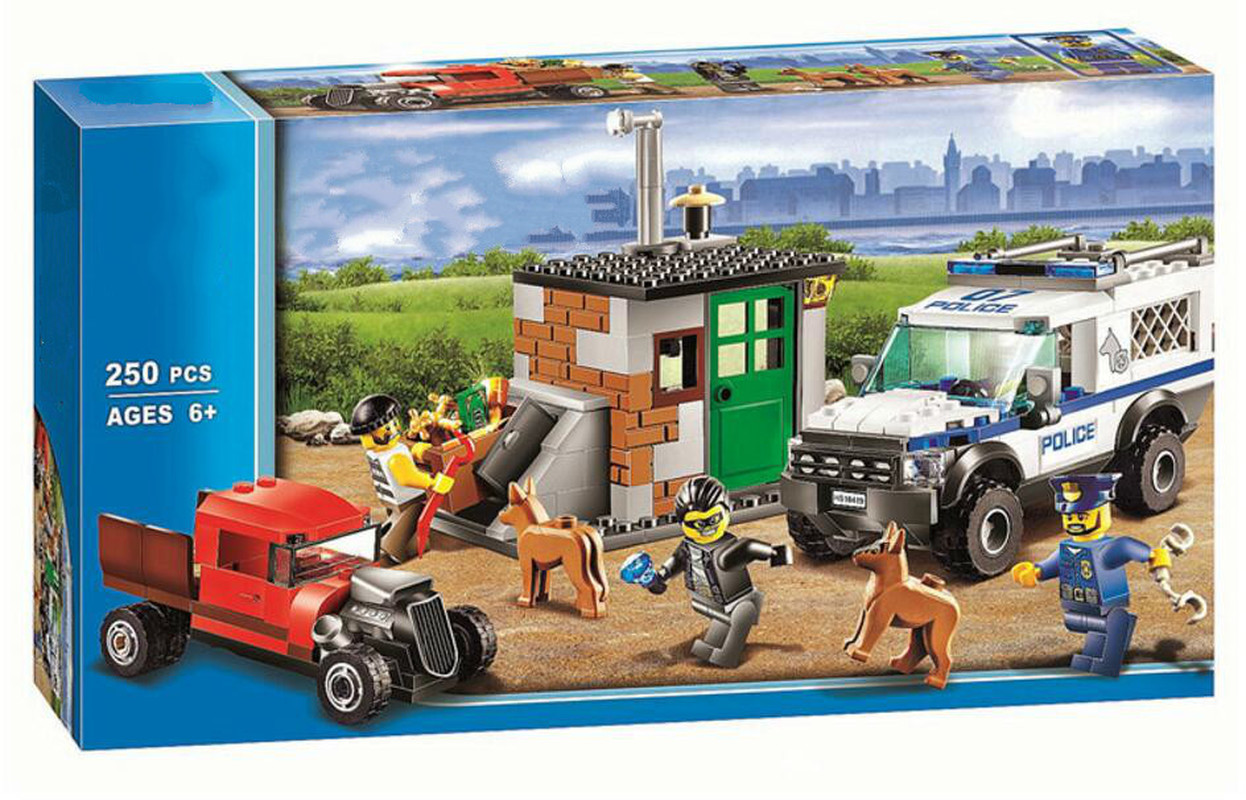 2016 new bela City Police series Police Dog Unit model Building Blocks Classic Mini blocks Toys Compatible with Legoed 60048