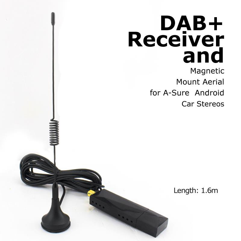 где купить A-Sure Universal USB 2.0 Digital DAB+ Radio Tuner Receiver Antenna Aerial BOX for Android 6.0 Android 5.1 /4.4 Car Radio дешево