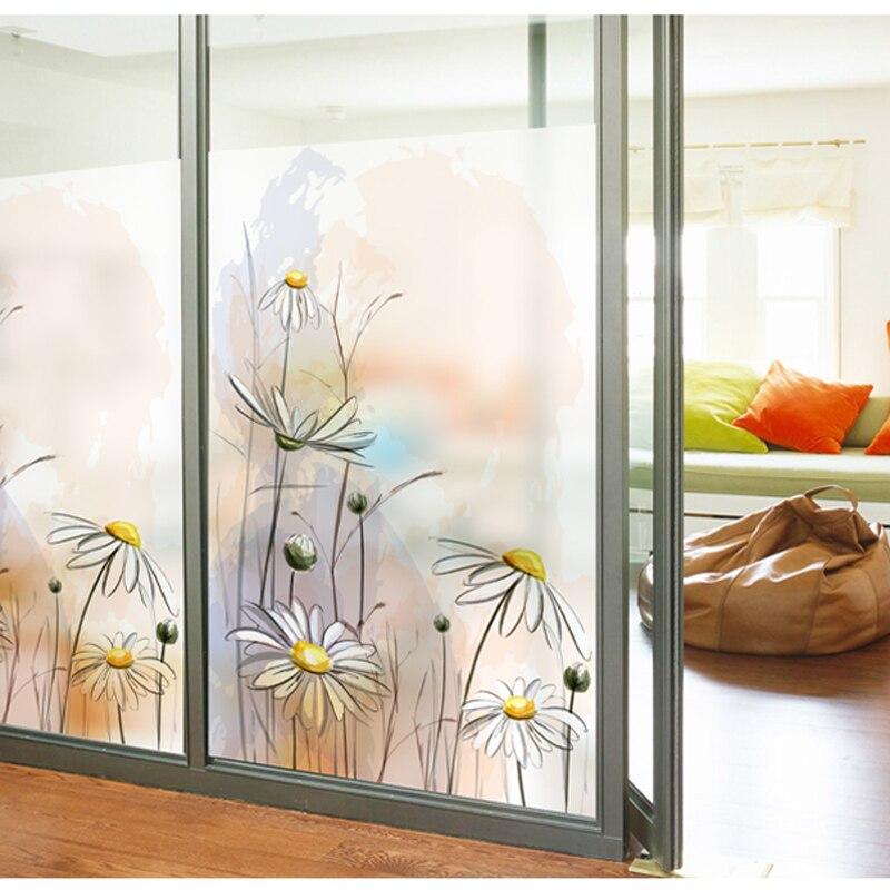 W80cm H196cm personnalisé vitrail Film porte coulissante placard garde-robe autocollants statique PVC