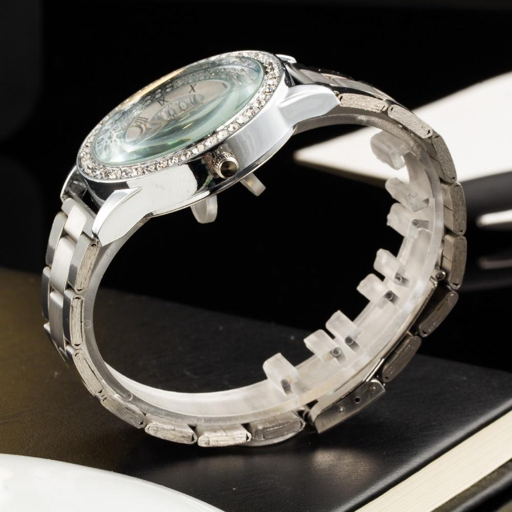 2019 New Brand Gold Grid Crystal Casual Quartz Watch Kvinnor - Damklockor - Foto 4