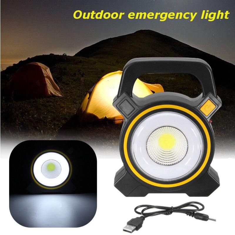 Solarbetriebene USB Tragbare 30 Watt LED Laternen COB Spot Wiederaufladbare LED Flutlicht Im Freien Arbeiten Lampe 2400Lm