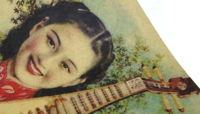 Винтажный Старый Шанхай, календарь красоты/Ретро/плакат на крафт-бумаге для украшения комнаты, повышение красоты классический подарок