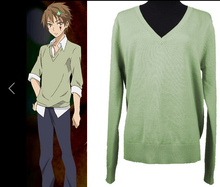 PUPA cartoon sweater pullover long-sleeved light green animation around COS JK uniforms