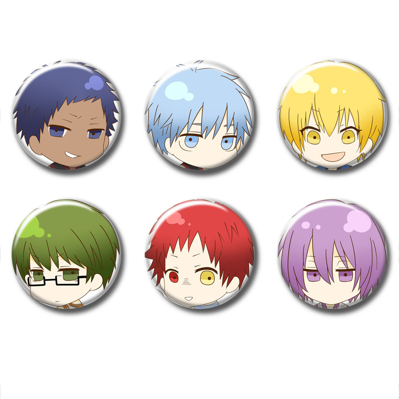58MM Kawaii Cosplay Props Anime Badge Button Pin Brooch