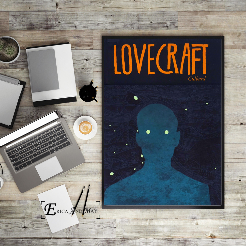 Lovecraft Vintage Comic Art Canvas Art Print Painting Modern Wall Picture Home Decor Bedroom Decorative Posters No Frame in Painting Calligraphy from Home Garden
