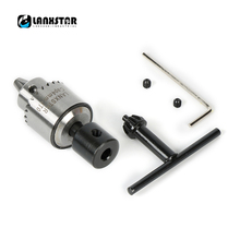 Lanxstar PCB CNC Boor Elektrische Chuck Adapter Mini 0.3 4 mmJTO Set Precisie Chuck Voor Diameter 5mm 775 Motor As Chuck