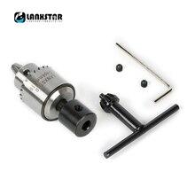 Lanxstar PCB CNC DIY เจาะไฟฟ้า Chuck Adapter Mini 0.3 4 mmJTO ชุด Precision สำหรับเส้นผ่านศูนย์กลาง 5 มม. 775 มอเตอร์ Shaft Chuck