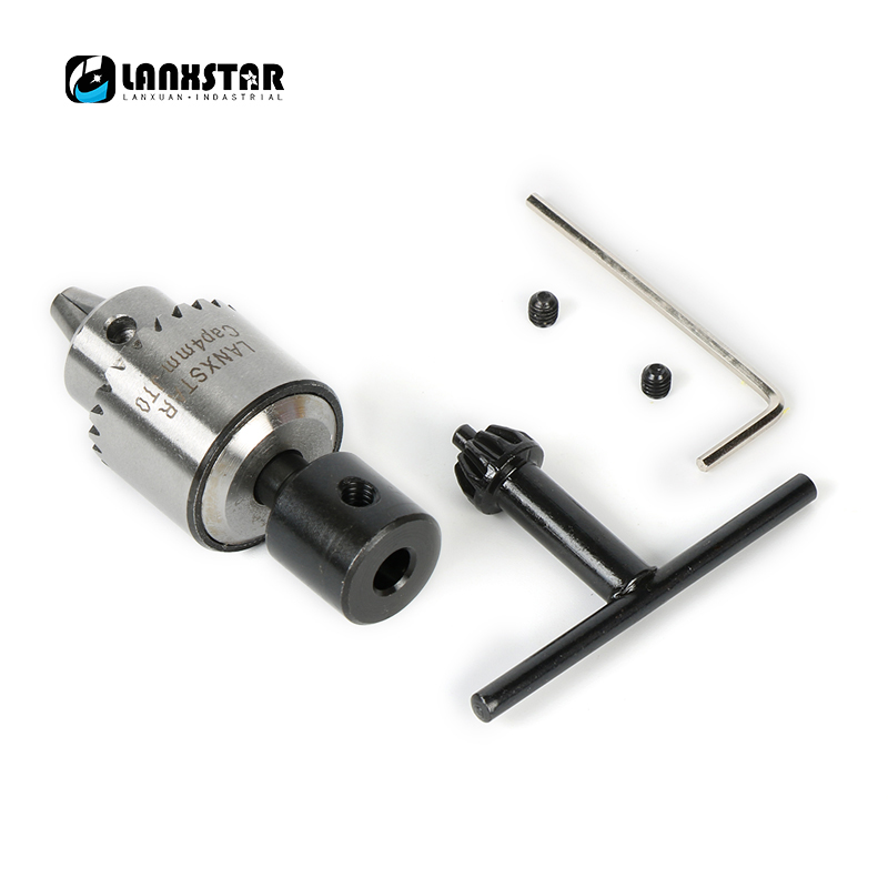 Lanxstar PCB CNC DIY Drill Electric Chuck Adapter Mini 0.3-4mmJTO Set Precision Chuck For Diameter 5mm 775Motor Shaft Chuck