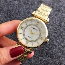 2017 de Oro Rosa De Plata de Oro Famosa Marca de moda casual Contena Señoras Relojes Rhinestone Mujeres se Visten Relojes mejor regalo para la muchacha