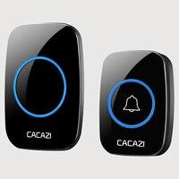 CACAZI White Wireless Doorbell Waterproof 300M Range Door Bell Low Price High Quality 1 Outdoor Transmitters