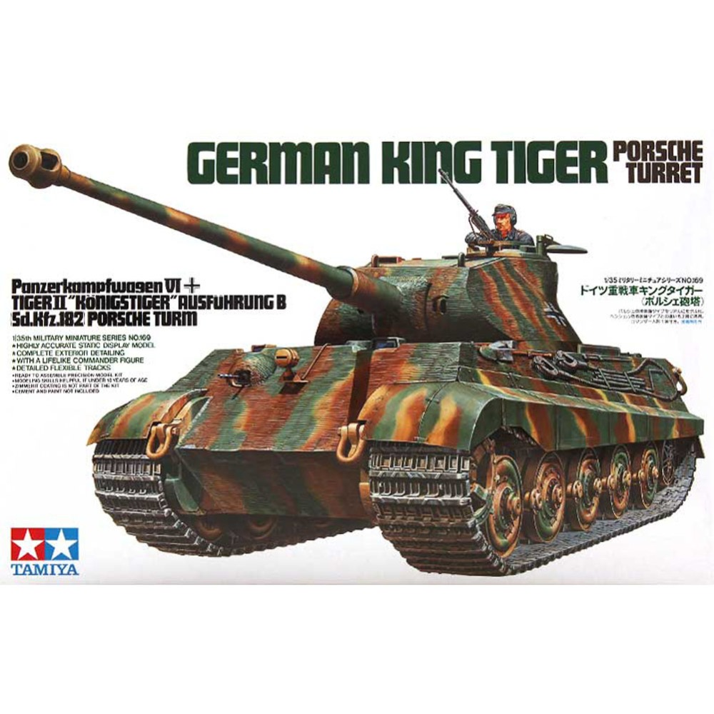 OHS Tamiya 35169 1/35 German King Tiger Panzerkampfwagen VI Sd Kfz 182 Military Assembly AFV Model Building Kits G 1 35 assembly german sd kfz 250 9 a fire artillery armored vehicle 6882