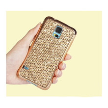 TPU zachte plated Glitter Bling Case Voor Samsung Galaxy S4 S5 Mini J5 J7 Prime Note 5 4 Grand Prime G360 i9082 Spiegel Terug cover(China)